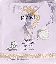 Parfumuri și produse cosmetice Mască de țesut pentru față, cu ulei de chihlimbar - Avon Planet Spa Radiant Gold Radiance Sheet Mask