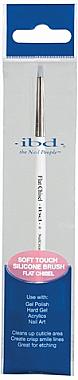 Кисть для маникюра с силиконовым наконечником - IBD Silicone Gel Art Tool Flat Chisel — фото N1