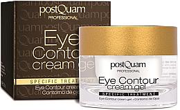 Parfumuri și produse cosmetice Gel-cremă pentru zona din jurul ochilor - PostQuam Eye Contour Cream Gel