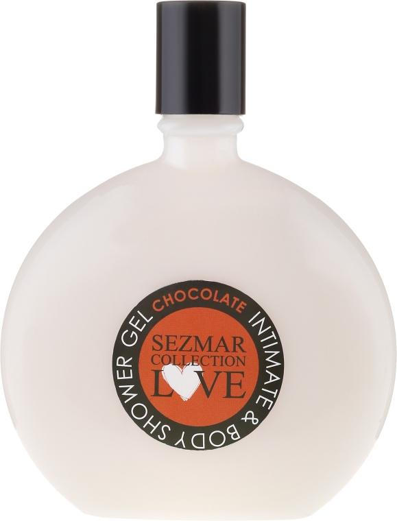 """Gel de duș pentru igienă intimă """"Ciocolată"""" - Hristina Cosmetics Sezmar Love Chocolate Intimate & Body Shower Gel — Imagine N1"""