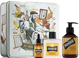 Parfumuri și produse cosmetice Set - Proraso Wood & Spice Beard Kit (balm/100ml + shmp/200ml + oil/30ml)