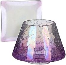 Parfumuri și produse cosmetice Abajur și suport pentru lumânări mici - Yankee Candle Savoy Purple Crackle Small Shade & Tray
