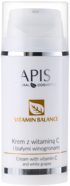 Cremă de față cu vitamina C și struguri albi - APIS Professional Vitamin Balance Cream With Vitamin C and White Grapes