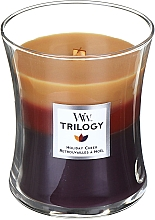 Parfumuri și produse cosmetice Ароматическая свеча в стакане - WoodWick Holiday Cheer Trilogy Candle