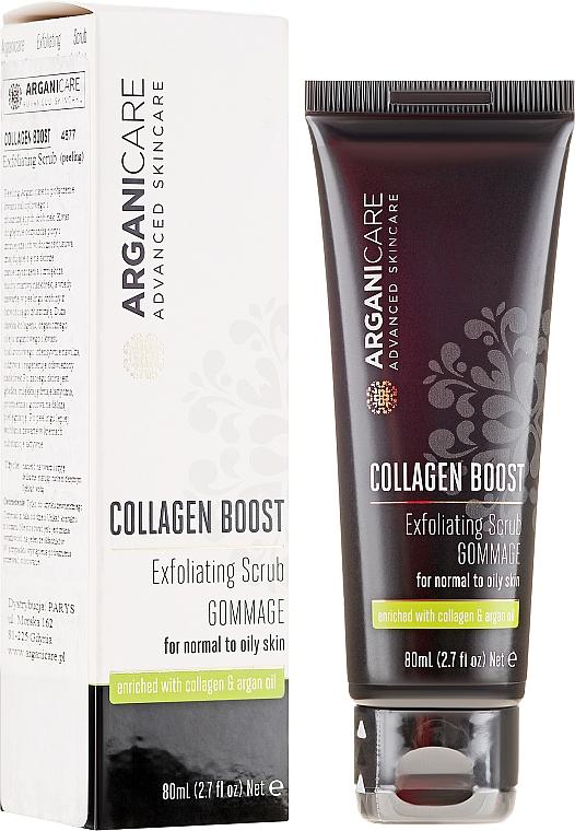 Scrub pentru față - Arganicare Collagen Boost Exfoliating Scrub