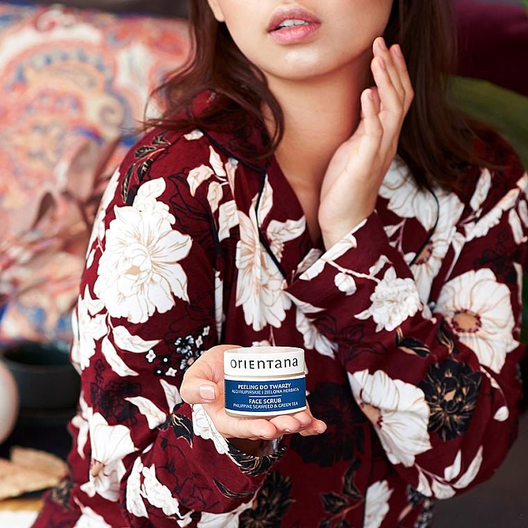 "Peeling-gel pentru față ""Alge marine și ceai verde"" - Orientana Natural Gel Face Scrub Philippine Seaweed & Green Tea — Imagine N2"