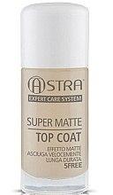 Parfumuri și produse cosmetice Fixator mat pentru unghii - Astra Make-up Super Matte Top Coat