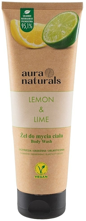 "Гель для душа ""Лимон и лайм"" - Aura Naturals Lemon & Lime Body Wash — фото N1"