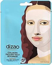 """Parfumuri și produse cosmetice Mască pentru față și gât """"Colagen"""" - Dizao Collagen Face & Neck Botomask"""