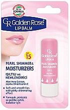 Parfumuri și produse cosmetice Balsam de buze - Golden Rose Lip Balm Pearl Shimmer & Moisturizers SPF15