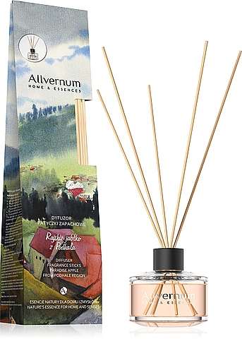 """Difuzor de aromă """"Măr paradis din Podhale"""" cu bețișoare - Allvernum Allverne Home & Essences Diffuser"""