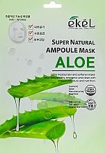 Parfumuri și produse cosmetice Mască de țesut cu extract de aloe - Ekel Super Natural Ampoule Mask Aloe