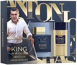 Parfumuri și produse cosmetice Antonio Banderas King of Seduction Absolute - Set (edt/100ml + deo/150ml)