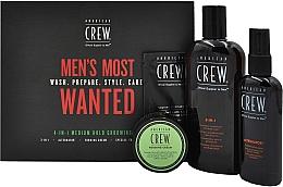 Parfumuri și produse cosmetice Set - American Crew Men's Most Wanted (shm/250ml + cr/50g + spray/100ml + balm/7.4ml)