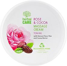 Духи, Парфюмерия, косметика Cremă pentru masaj, cu efect tonifiant - Bulgarian Rose Herbal Care Rose & Cococa Massage Cream