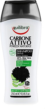 Set - Equilibra Active Charcoal Detox Bio Box (sh/gel/250ml + shampoo/250ml + b/sponge/1) — Imagine N4