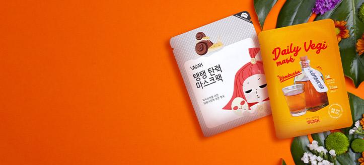 При покупке товаров Yadah на сумму от 245 MDL, получите маску для лица на выбор