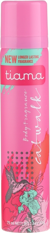 Deodorant - Tiama Body Deodorant Catwalk Pink