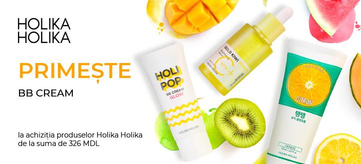 La achiziția produselor Holika Holika de la suma de 326 MDL primești în dar BB cream