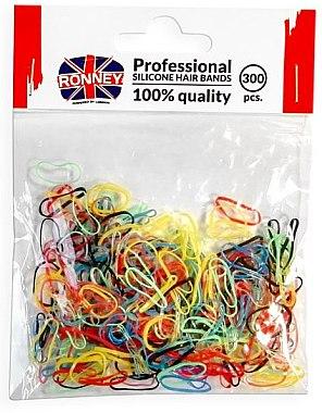 Elastice de păr din silicon, multicolore - Ronney Professional Silicone Hair Bands