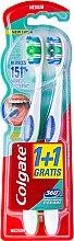 """Parfumuri și produse cosmetice Periuță de dinți """"Super Clean"""", medie - Colgate 360 Whole Mouth Clean Medium"""