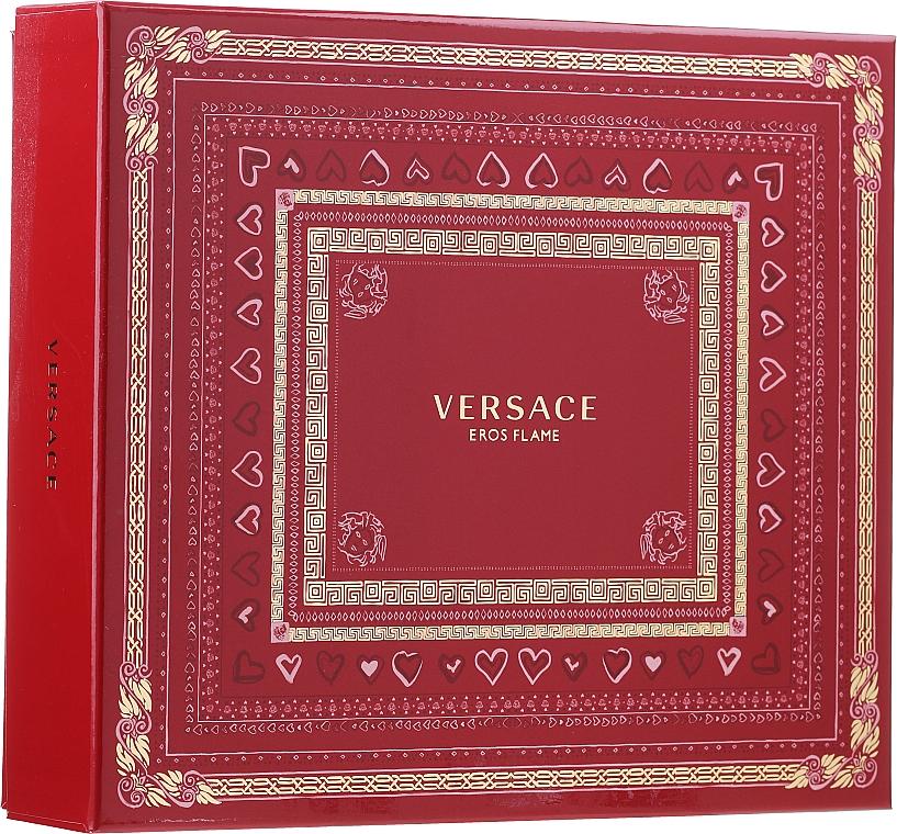 Versace Eros Flame - Set (edp 100 ml + sh/gel 150 ml + edp/10ml)