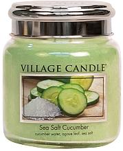 Parfumuri și produse cosmetice Lumânare aromată în borcan - Village Candle Sea Salt Cucumber Candle