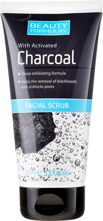 Scrub pentru curățarea profundă a pielii feței - Beauty Formulas Charcoal Facial Scrub