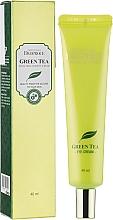 Parfumuri și produse cosmetice Cremă hidratantă cu extract de ceai verde pentru ochi - Deoproce Premium Greentea Total Solution Eye Cream