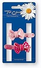 Parfumuri și produse cosmetice Agrafe de păr, 24894, roz și roșu - Top Choice