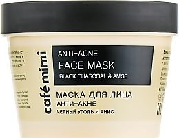 """Parfumuri și produse cosmetice Mască de față """"Anti-acnee"""" - Cafe Mimi Face Mask"""
