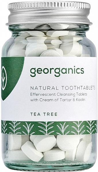 """Tablete pentru igiena orală """"Arbore de ceai"""" - Georganics Natural Toothtablets Tea Tree"""