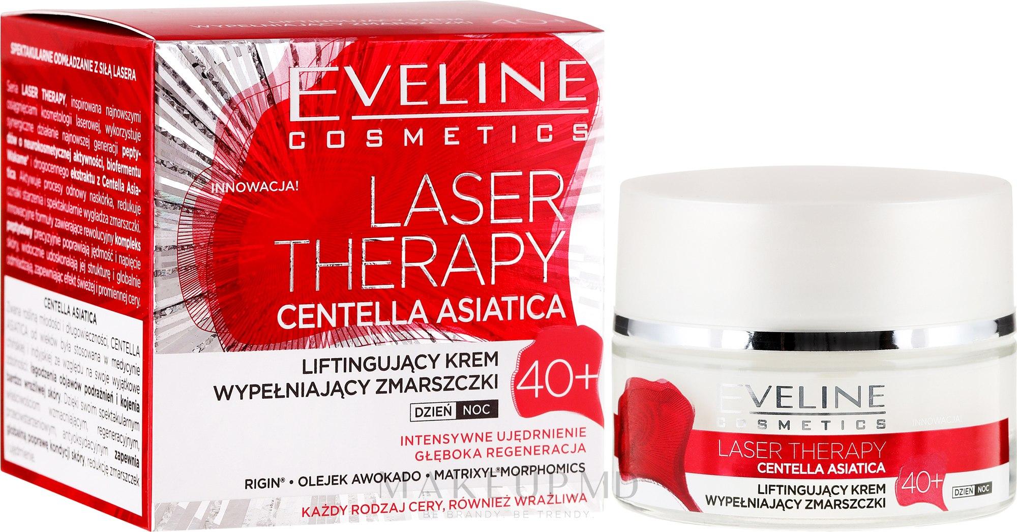 Crema de față 40+ - Eveline Cosmetics Laser Therapy Centella Asiatica 40+ — Imagine 50 ml