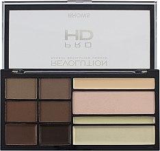 Духи, Парфюмерия, косметика Палетка для оформления бровей - Makeup Revolution HD Pro Brows