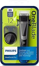 Parfumuri și produse cosmetice Trimmer pentru mustață și barbă - Philips OneBlade Pro QP6510/20