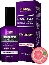 """Parfumuri și produse cosmetice Ser de păr """"Grapefruit roz"""" - Kundal Macadamia Pink Grapefruit Ultra Serum"""