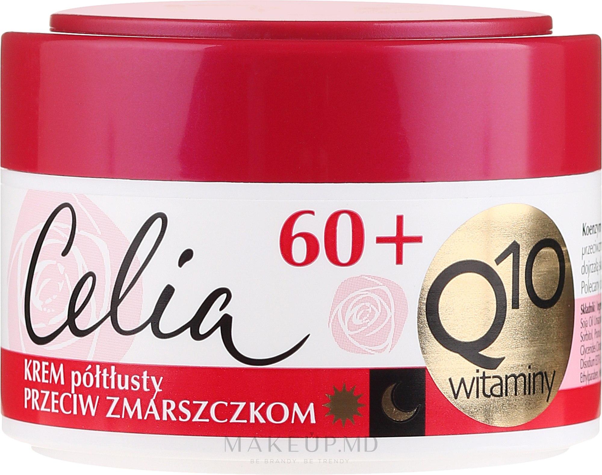 Полужирный крем для лица, антивозрастной - Celia Q10 Face Cream 60+ — фото 50 ml