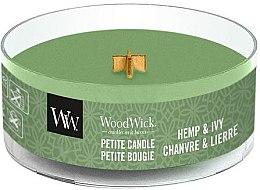 Parfumuri și produse cosmetice Lumânare aromatică în pahar - WoodWick Petite Candle Hemp And Ivy