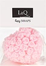 """Parfumuri și produse cosmetice Săpun natural """"Inimă cu trandafiri"""" cu aromă de vișini - LaQ Happy Soaps Natural Soap"""