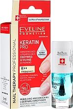 Parfumuri și produse cosmetice Întăritor pentru unghii - Eveline Cosmetics Nail Therapy Professional Keratin Pro
