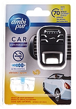 "Parfumuri și produse cosmetice Set pentru aromatizare auto ""Anti-tutun"" - Ambi Pur (freshener/1szt + refill/7ml)"