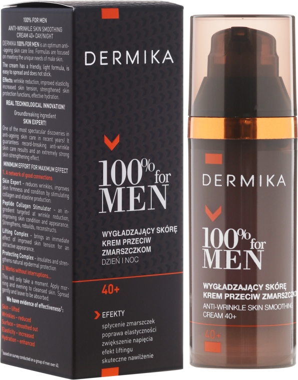 Cremă anti-rid pentru netezire 40+ - Dermika Skin Smoothing Anti-Wrinkle Cream 40+