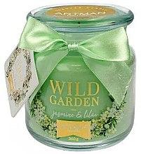 Parfumuri și produse cosmetice Lumânare aromată, 10x11 cm, 360g - Artman Wild Garden Jasmin & Lilac