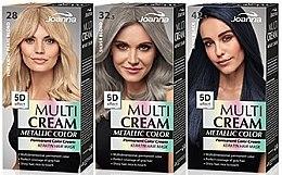 Parfumuri și produse cosmetice Vopsea de păr - Joanna Multi Cream Color Metallic
