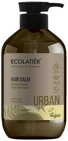 "Balsam nutritiv pentru păr uscat ""Avocado și nalbă"" - Ecolatier Urban Hair Balm"