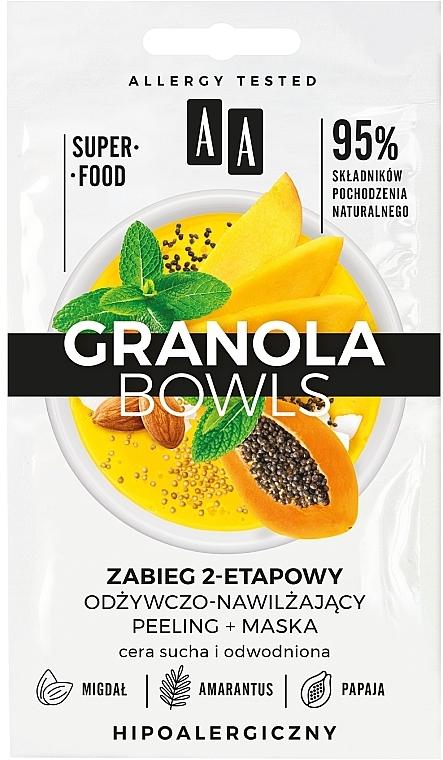 Mască-peeling pentru ten uscat și deshidratat - AA Granola Bowls Peeling Mask