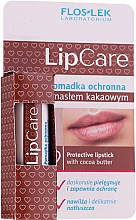 Parfumuri și produse cosmetice Ruj de protecție cu unt de cacao - Floslek Lip Care Protective Lipstick With Cocoa Butter