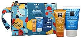 Parfumuri și produse cosmetice Set - Apivita Suncare (f/cr/50ml + f/gel/100ml)