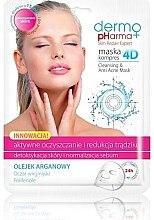"""Parfumuri și produse cosmetice Mască de față """"Tratament activ și reducerea acneei"""" - Dermo Pharma Skin Repair Expert Cleansing Anti Acne Mask 4D"""