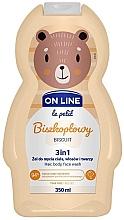 """Parfumuri și produse cosmetice Gel se spălare pentru păr, corp și față """"Biscuit"""" - On Line Le Petit Biscuit 3 In 1 Hair Body Face Wash"""